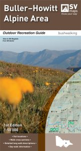Buller-Howitt Alpine Area bushwalking map.
